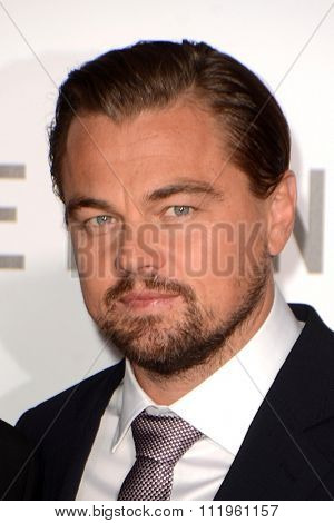LOS ANGELES - DEC 16:  Leonardo DiCaprio at the The Revenant Los Angeles Premiere at the TCL Chinese Theater on December 16, 2015 in Los Angeles, CA
