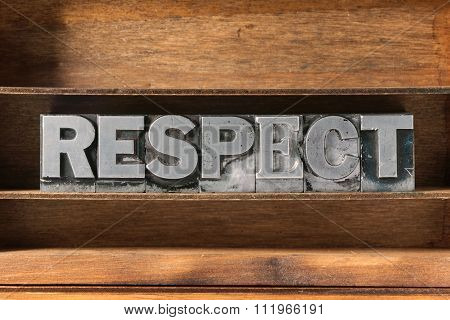 Respect Word Tray