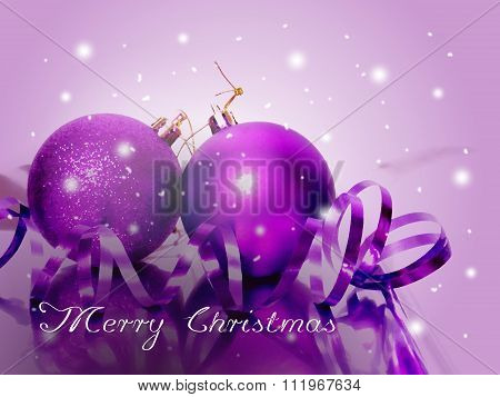 Greeting Card To Christmas Holiday