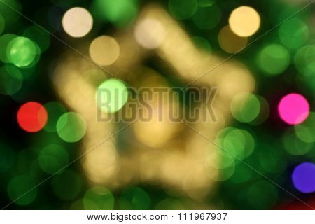 Abstract Christmas Star Bokeh 1