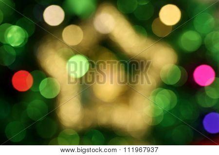 Abstract Christmas Star Bokeh 1