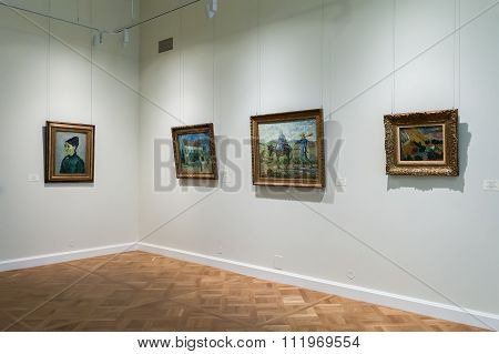 Hall With Impressionist Paintings Vincent Van Gogh At The Museum Of The General Staff (branch Of Her