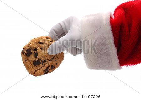 Santa Claus Hand With Cookie