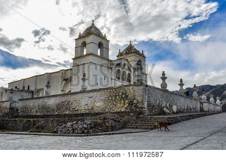 Colonial Church In The Colca Canyon, Peru