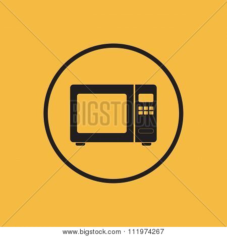 Microwave icon. Vector illustration.