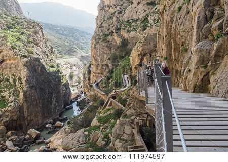 'el Caminito Del Rey' (king's Little Path), World's Most Dangerous Footpath Reopened In May 2015. Ar