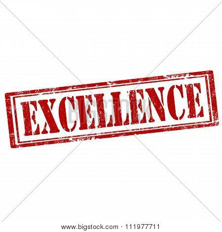 Excellence-red Stamp