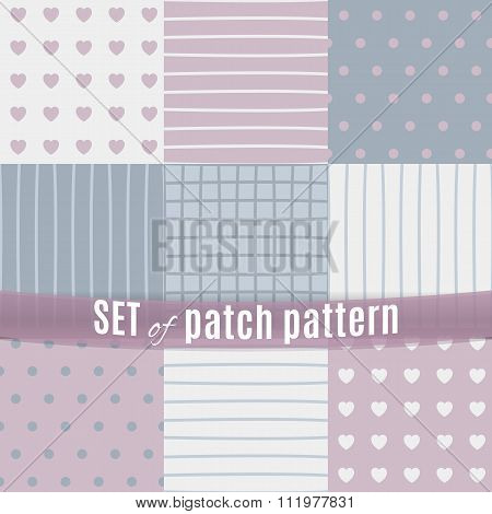Set of seamless pattern with patchs