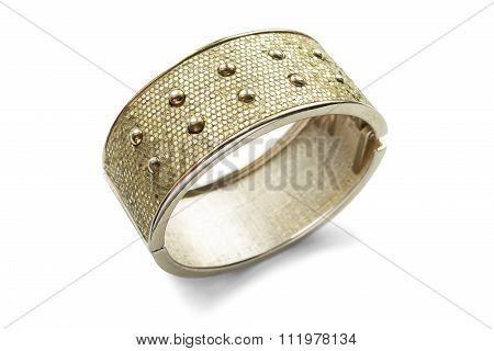 Gold Bracelet Isolated