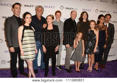 LOS ANGELES - DEC 14:  Life in Pieces Cast at the An Evening with