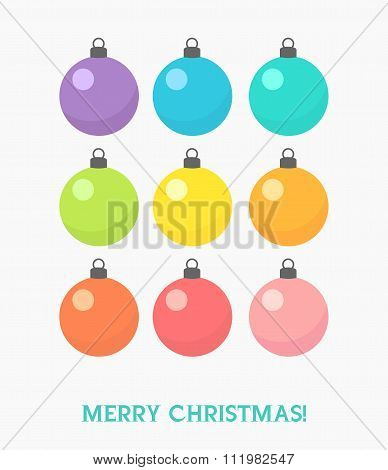 Set Of Christmas Baubles