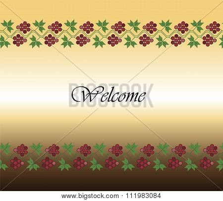 Traditional ornament welcome background