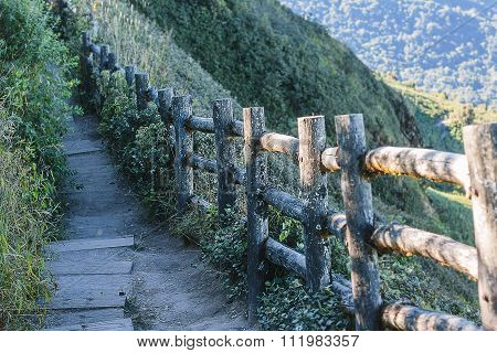 foot path in mountain,