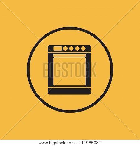 Stove icon. Vector illustration.