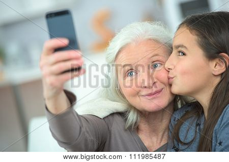 Selfie with grandma