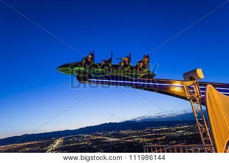 Stratosphere Tower Of Las Vegas At Night, Nevada