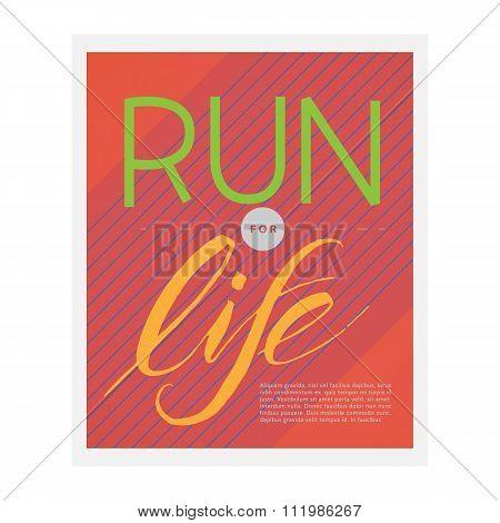Vector illustration of running poster.