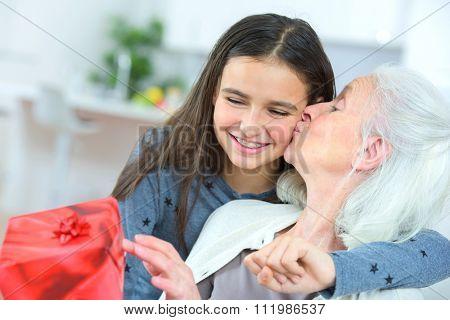 Giving grandma a gift
