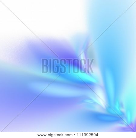 White Abstract Background With Pastel Rainbow - Blue, Turquoise - Texture, Fractal