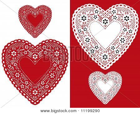Red Heart Lace Doilies