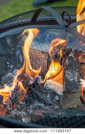 Close up of wood burner
