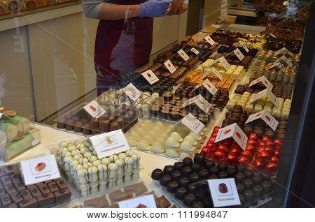 Belgium Chocolate store
