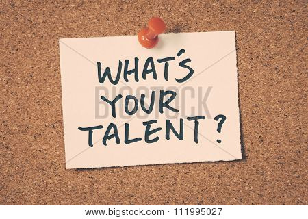What's Your Talent