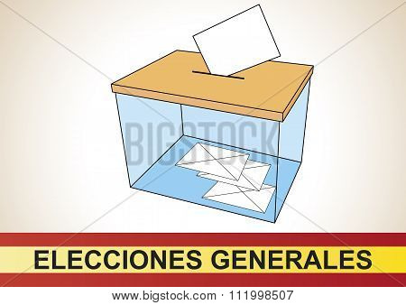 Spanish Elections Ballot Box
