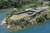 Постер, плакат: Aerial view of Fort Sherman at Toro Point Panama Canal Panama