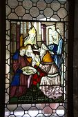 image of circumcision  - Stained glass Circumcision of the baby Jesus - JPG