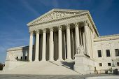 pic of supreme court  - us supreme court in washington dc in bright sunlight - JPG