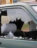 stock photo of car-window  - bad day for owner car  - JPG