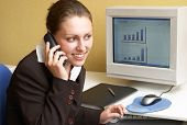 stock photo of clientele  - Business woman in an office - JPG