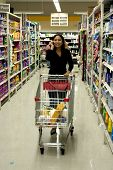image of grocery-shopping  - shot at supermarket - JPG