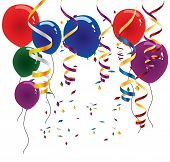 picture of 50th  - Selection of different colored balloons - JPG