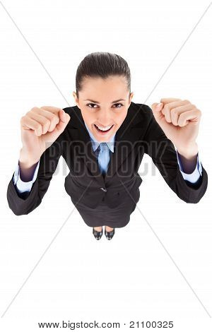 Funny Winner Businesswoman