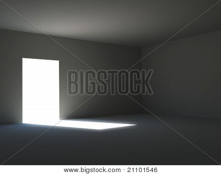Ambient light in a dark room