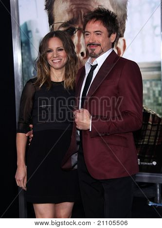 "LOS ANGELES - JUN 19:  Robert Downey Jr. & wife Susan Downey arrives to the""The Hangover Part 2"" Los Angeles Premiere  on June 19,2011 in Hollywood, CA"