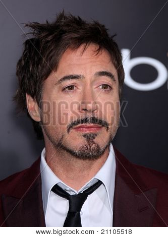 """LOS ANGELES - JUN 19:  Robert Downey Jr. arrives to the""""The Hangover Part 2"""" Los Angeles Premiere  on June 19,2011 in Hollywood, CA"""