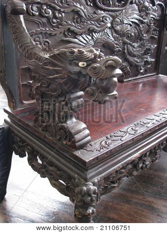 Antique Chinese carved  furniture