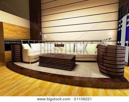 Sofa area of a modern living room
