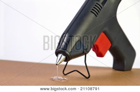 Hot Glue Gun With Glue Dripping