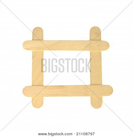 Popsicle Sticks In A Frame Formation