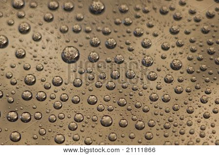 Small Colored Water Drops