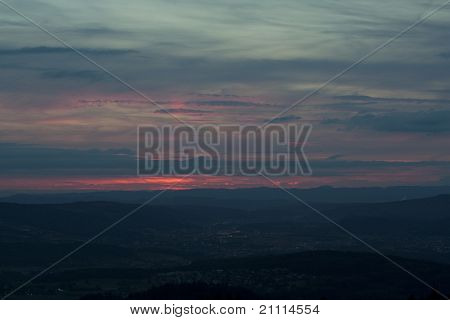 Sunset Seen From Uetliberg, Zurich