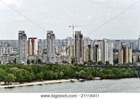 View on Kyiv modern architecture