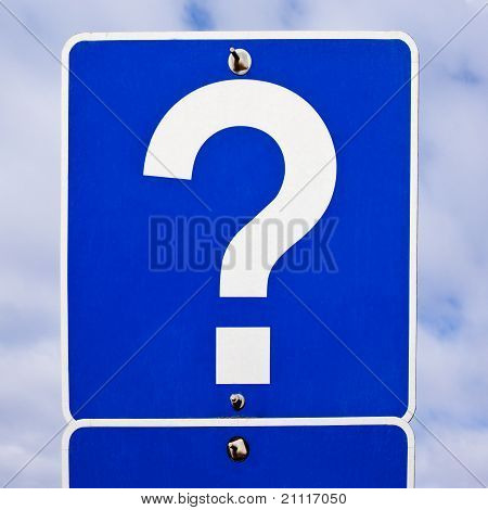Road Sign: Question Mark