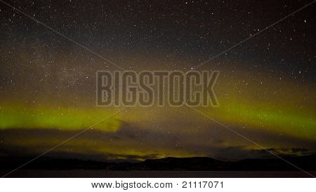 Northern lights and myriad of stars