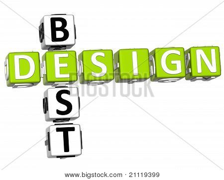 3D beste Design-Kreuzworträtsel