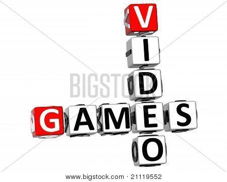 poster of 3D Video Games Crossword